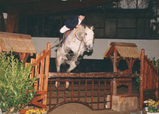 me and Adana Lyndon (Part-bred), Pony Grand Prix Showjumping, Paris 1996
