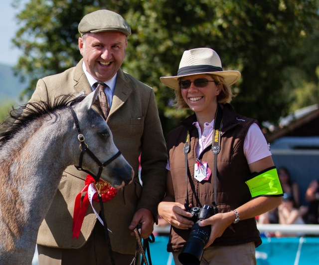 Ingrid Delaitre, official photographer at the Royal Welsh 2014 with Meirion Davies (Heniarth) winning the foal class with Heniarth Touchstone by Adagio !